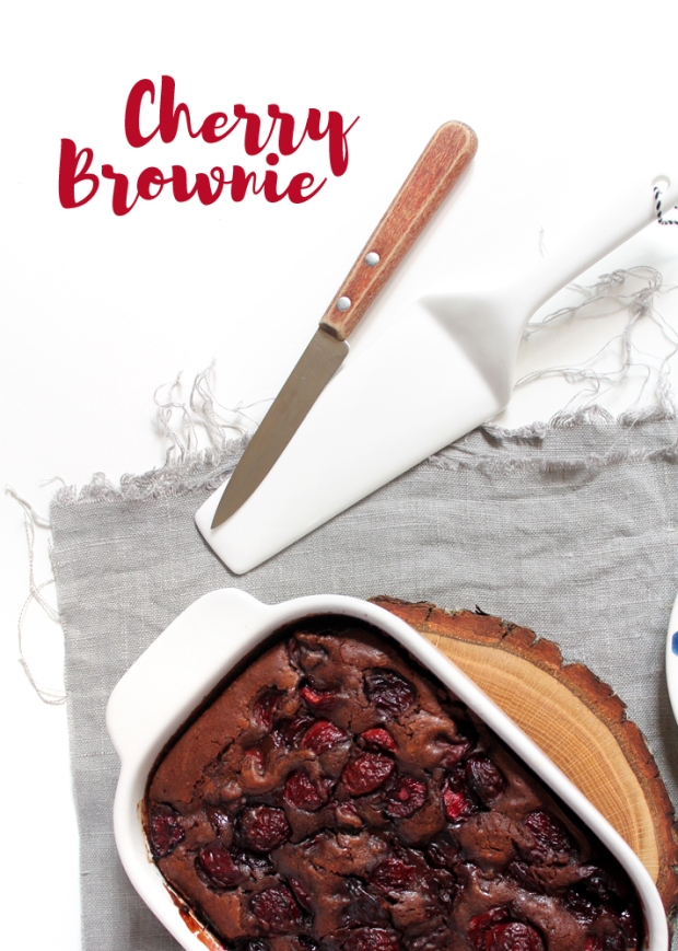 brownie aux cerises, brownie cherry
