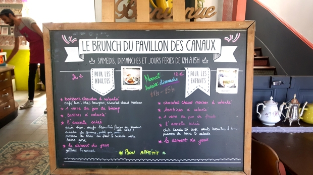 Menu Brunch - Le Pavillon des Canaux (Paris)